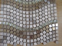 Wholesale strong new fashion metal nature stone water pool kitchen bathroom porcelain tile sheet home decoration mosaic tiles wall stickers