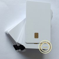 Wholesale 10pcs FM4442 Chip with Hi Co Magnetic Stripe in Contact Smart IC Blank Card Printable By Zebra Printer