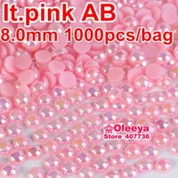 Wholesale bag mm ABS Plastic imitation pearls half round flatback pearls for DIY decoration and nail art Y2581