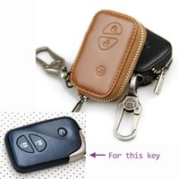 Wholesale Leather car key case for Lexus ES GS GX IS LS SC key cover holder shell key fob cover rings key wallet bag