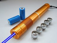 1w laser - gold style laser mw W blue lazer pointer burst paper ignite candle military lazer torch X16340 and charger included