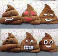 Wholesale emoji Plush Toys Pillow Shit Poop pillow Stuffed Toys CM Poop emoji pillows Cute Emoji Cushion poop shit shape cute emoji toy D362