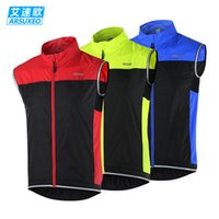 Wholesale 2016 Hot Selling ARSUXEO Sleeveless Vest Cycling Jerseys Tops Roupa Ciclismo Summer Quick Dry Bike Clothing Sports Cycling Bicycle Clothes