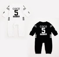 Wholesale LUXURY Infant Girls Boys Long Sleeve Rompers Perfume No Cotton Cute One Piece Newborn Baby Bodysuits Kids Daily Romper KB258