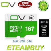 Wholesale 100 Original Genuine OV Micro SD Card Memory Card Microsd Mini Sd Card GB G up to mb s Class real capacity