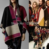 Wholesale New Autumn Winter Brand Blanket Wraps Fashion Show Poncho Shawl Cape Olivia Palermo Cara Scarves Customized Name Initials