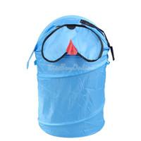 Wholesale Folding Cartoon Animal Storage Bucket Dirty Clothes Sundries Basket Pug K5BO