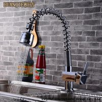 american sink - Copper pull american spring sink vegetables basin hot and cold faucet