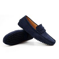 leather flat shoes - New spring and autumn genuine leather men shoes casual flats loafer mens gomini shoes