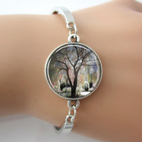altered art - Weeping Willow Tree Bracelet Tree Of Life Jewelry Art Photo Glass Altered Art Charm New Fashion Jewelry Gift