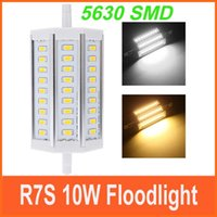 ac factory store - Bright Corn Bulb W Light Lamp R7S mm SMD5630 LED Floodlight J118 for factory workshop clothing store etc AC85 V