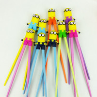 Wholesale Children Educational Minions Chopsticks Kids Despicable Me Training Chopsticks Baby Learning Chopsticks