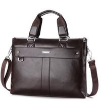 Wholesale 2015 Men Casual Briefcase Business Shoulder Bag Leather Messenger Bags Computer Laptop Handbag Bag Men s Travel Bags NB824