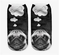 Wholesale Creative Hunger Dog Bone D Printing Socks Women Girls Children Cotton Sock Animals Character Ankle Sock High Quality DCBF43