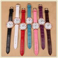 Wholesale Belt watch quartz watch fashion lady love Luxury Brand Watches For Ladies Girl Women Rhinestone Wrist Watches Heart style Watch