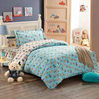 bearing cleaning machine - Kids cute bear cotton twin bedding set with reversible reactive printing duvet quilt cover flat sheet pillow sham pc comforter sets