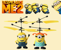 best remote helicopter - Despicable Me RC helicopter Avengers Minions rc toys Remote sensing Toys Christmas best Gift