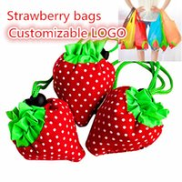 strawberry folding shopping bag - 10PCS Reusable Foldable Strawberry bag Several Colors Shopping Bag Grocery Folding Bag Customizable LOGO
