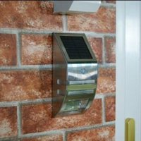 Wholesale 2014 Newest PIR Solar Sensor wall lamp LED Solar power outdoor waterproof Lamp Wall Light garden yard light