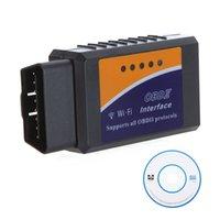 Wholesale Mini WIFI ELM ELM327 OBD II Car Diagnostic Tool Interface Scanner Universal OBD2 WIFI Auto Scan Tool