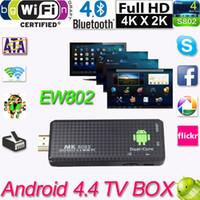 Wholesale Android TV Dongle Stick Mini PC Dual Core RK3066 G G Wifi XBMC MK809II Bluetooth Smart TV Stick google Mini Media Player