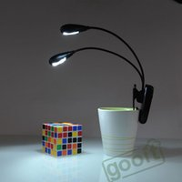 Wholesale USB Rechargeable Dual Arm LED Reading Clip On Desk Lamp eye protection lights