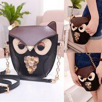 leather owl purse - Lady Owl Print Satchel Leather Shoulder Bag Handbag Cross Body Purse DH04