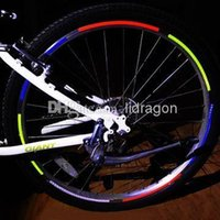 Wholesale High quality motorcycle bike car bicycle hot wheels reflective stickers wheel rims reflective stickers