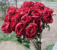 arranged weddings - 10cm diameter real touch rose artificial flower Home Decorating Latex rose floral arranging table centerpiece colour option
