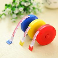 Wholesale Pocket Plastic Round Tape Measure Tapeline Tape Measure Ruler Sewing tool