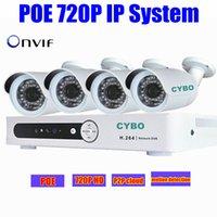 Mini Cámara IP 720P HDMI sistema de seguridad cctv POE nvr hd 1080p de 4 canales de la red ir de la cámara en casa sistema kit de video vigilancia exterior