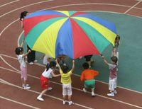 Wholesale 2m Child Kid Sports Development Outdoor Rainbow Umbrella Parachute Toy Jump sack Ballute Play Parachute TY1121