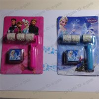 Wholesale Frozen Little hand roller seal Cartoon Princess Anna Elsa Olaf Seal stamp Children gift kids Toys high quality seal New hot sales