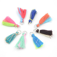 clip on charms - New Arrival DIY Jewelry Charms Clip on Charm Mix Colors Art Boho Tassels Jewelry DIY Color Mixed Tassel Charm for Bracelet and Necklace