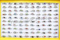 american jewlery - Jewlery Rings Fashion Jewelry Heart CZ Rhinestone Silver tone Colorful Ring Fashion Rings Jewellery