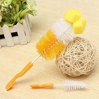 Wholesale Home Convenient Baby Milk Bottle Nipple Teat Brushes Teapot Nozzle Spout Tube Nylon Cleaning Scrubber