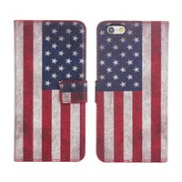 best designer iphone cases - PU Leather Wallet Phone Case for iPhone quot Dirt Resistance Best Protective Cases Designer USA UK Flag L44