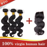 Cheap Brazilian Virgin Hair With Closure Best Brazilian Body Wave With Closure