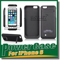 power bank external charger - Power Bank case For iPhone Iphone S Power Bank mAh Rechargerbale Flip Leather Power Bank Backup External Battery Charger Case