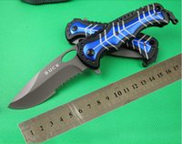knife knives lot - freeshipping Buck DA41 Hunting Fast Open Knife Folding Camping Knives serration Plating Titanium Blade