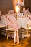 wedding black and white - 2015 Blush Pink Chair Sashes for Weddings with Crystal Delicate Wedding Decorations Chair Covers Chair Sashes Wedding Accessories