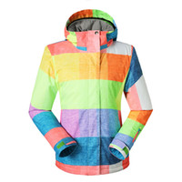 ski suit women - Women Snowboard Jacket Ski Jacket Multicolour Plaid outdoor skiing ski suit waterproof ski wear Gsou snow Free Shpping