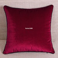 cheap sofa - Modern velvet solid color pillow cover of head big back sofa cushion cover pieces cheap pillows decorate