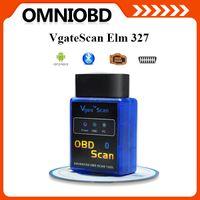 Code Reader audi factories - Factory direct selling price New MINI ELM Bluetooth Vgate Scan OBD2 OBDII ELM327 V1 Code Scanner