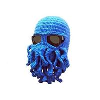 best ski mask - New Winter Beanies Imitation Haze Beard Octopus Hat Best Man Funny Mask Cap Wool Ski Knitted Hat Winter Hat for Man AH953