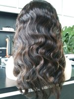 american short hair - wigs for black women human hair wigs full lace wig cheap Wavy remy virgin Chinese density african american body wave