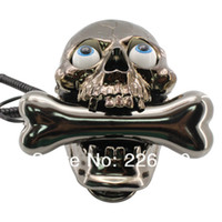 Wholesale Piece Black Popping Eyes Skull Shaped Telephone Skull Phone