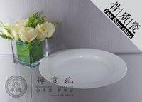 Wholesale 12 quot Peninsula Flat Plate fine bone china Durable Unusual hotel Restaurant Dinner Plate fine Porcelain ceramics dish Unique Design For Sale