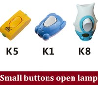 advanced compact - Hot sale Small compact single control button to open bedside lamp advanced imported ABS single small switch order lt no track