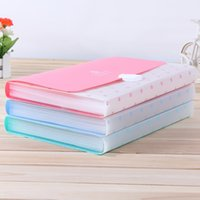 Wholesale A4 filing Case Office Supplies Preppy Style Happy Mind Plastic Expanding Wallet Document Folder